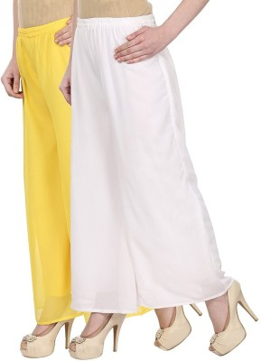 Skyline Trading Regular Fit Women's Yellow, White Trousers