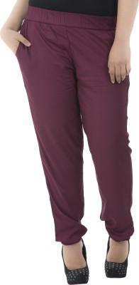 LastInch Regular Fit Women's Maroon Trousers