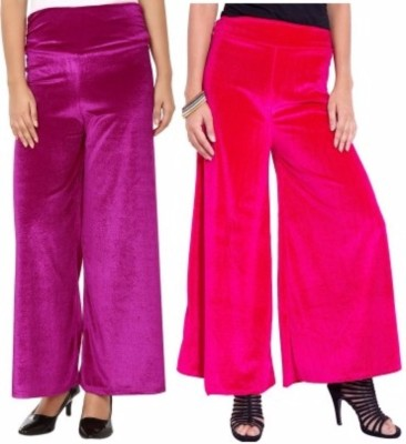 Viba London Regular Fit Women's Pink, Pink Trousers