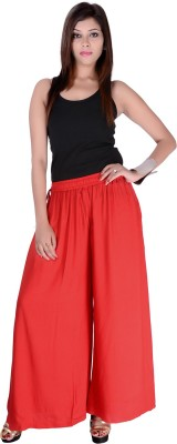 Pink Stone Regular Fit Women's Red Trousers