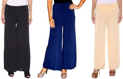Zadine Regular Fit Women,s Black, Dark Blue, Beige Trousers