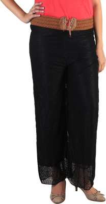 indian street fashion Regular Fit Women,s Black Trousers