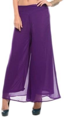 BuyNewTrend Slim Fit Women's Purple Trousers