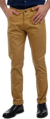 Sting Slim Fit Men's Linen Brown Trousers