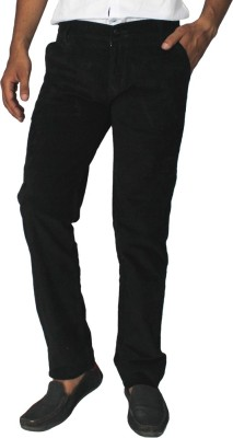 China Collection Regular Fit Men's Black Trousers