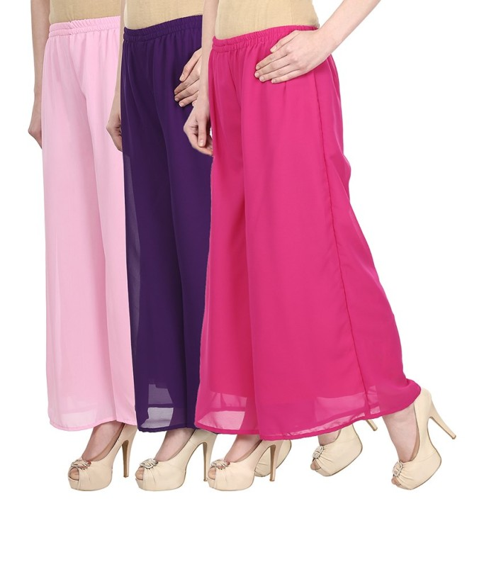 SYS Regular Fit Women's Pink, Purple, Pink Trousers