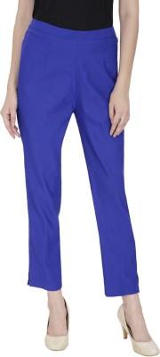 Secret Wish Regular Fit Women's Blue Trousers