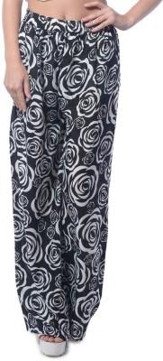 Stri Regular Fit Women's Black, White Trousers