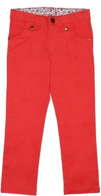 Elle Regular Fit Girl's Orange Trousers