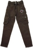 Vio Regular Fit Boys Brown Trousers