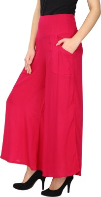 Ethnic Regular Fit Women's Pink Trousers