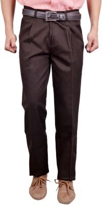 Studio Nexx Regular Fit Men's Brown Trousers