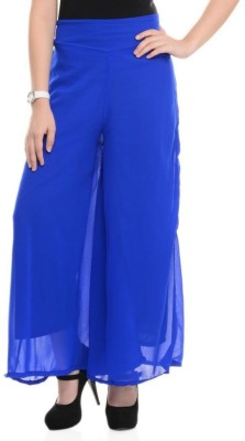Kyron Regular Fit Women,s Blue Trousers