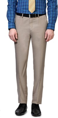 Van Heusen Slim Fit Men's Beige Trousers