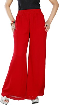 Twinkal Regular Fit, Slim Fit Women's Red Trousers
