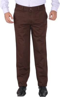 SAVINO Regular Fit Men's Brown Trousers