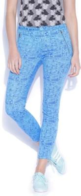 Kook N Keech Disney Regular Fit Women's Blue Trousers