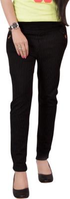 Ace Regular Fit Women's Black Trousers