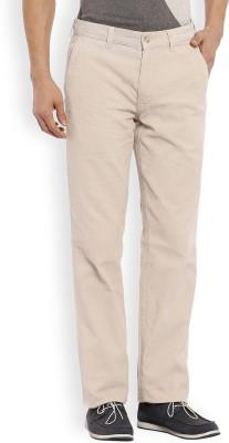 Color Plus Slim Fit Men's Beige Trousers