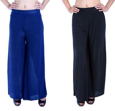 Ajaero Regular Fit Women's Dark Blue, Black Trousers
