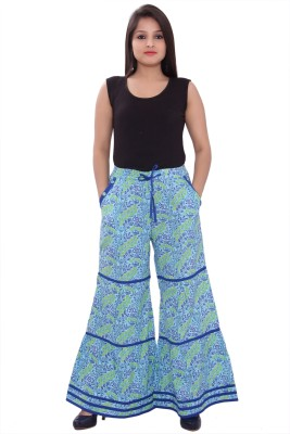 Razio Regular Fit Women's Blue Trousers