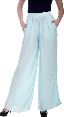 MansiCollections Regular Fit Women's Blue Trousers