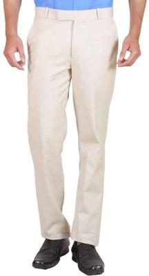 Le-Meiux Slim Fit Men's Linen Cream Trousers