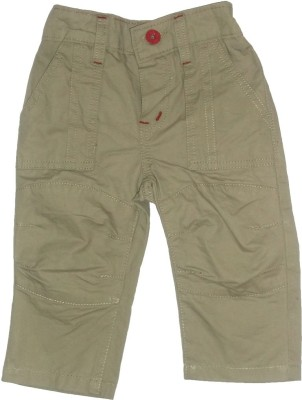 Red Rose Regular Fit Baby Boys Beige Trousers