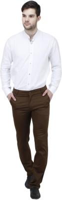 Feels Good Slim Fit Men's Brown Trousers