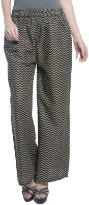 Stri Regular Fit Women's Black, Beige Trousers