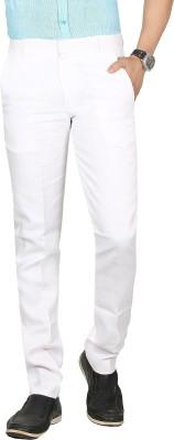 Sloper Skinny Fit Men's Linen White Trousers