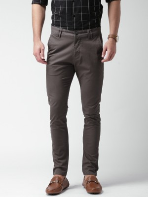 Mast & Harbour Slim Fit Men's Grey Trousers