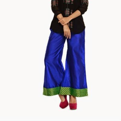 Navyou Regular Fit Women's Blue Trousers