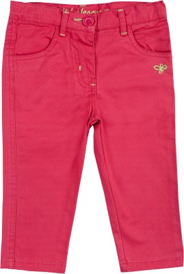 ADDYVERO Regular Fit Girl's Pink Trousers