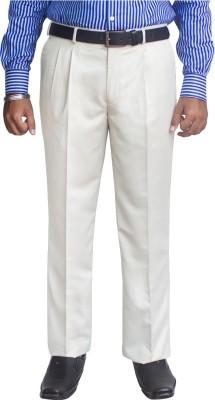 Kinger Regular Fit Men's Cream Trousers