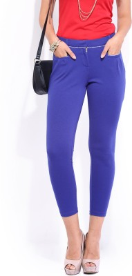 Dressberry Regular Fit Women's Blue Trousers at flipkart