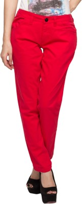 Alibi By Inmark Slim Fit Women's Red Trousers