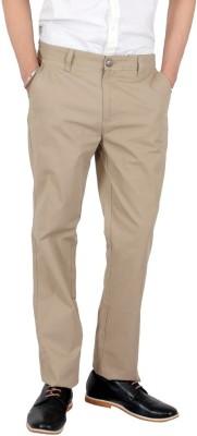 Wood Slim Fit Men's Beige Trousers