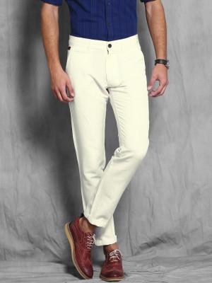 WROGN Slim Fit Men's White Trousers