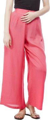 Pistaa Regular Fit Women's Pink Trousers