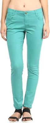 La Rochelle Slim Fit Women's Light Green Trousers