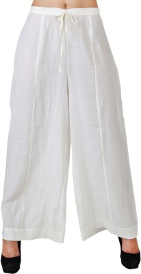 Uptowngaleria Regular Fit Women's White Trousers