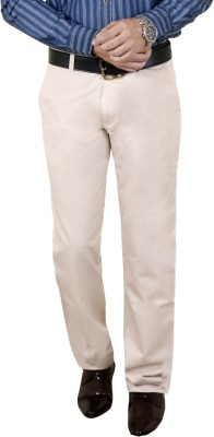 Zrestha Slim Fit Men's White Trousers