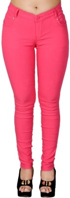 LGC Slim Fit Women's Pink Trousers