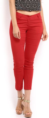 Mirage Regular Fit Women's Red Trousers at flipkart