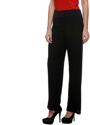 Purys Regular Fit Women's Black Trousers