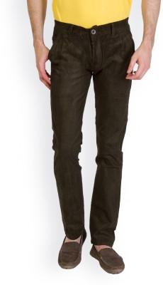 Bloos Jeans Slim Fit Men's Dark Green Trousers