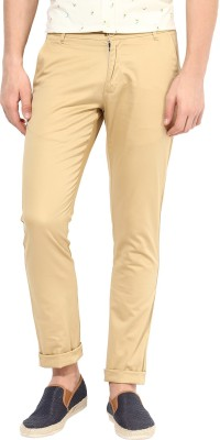 BUKKL Slim Fit Men's Brown Trousers