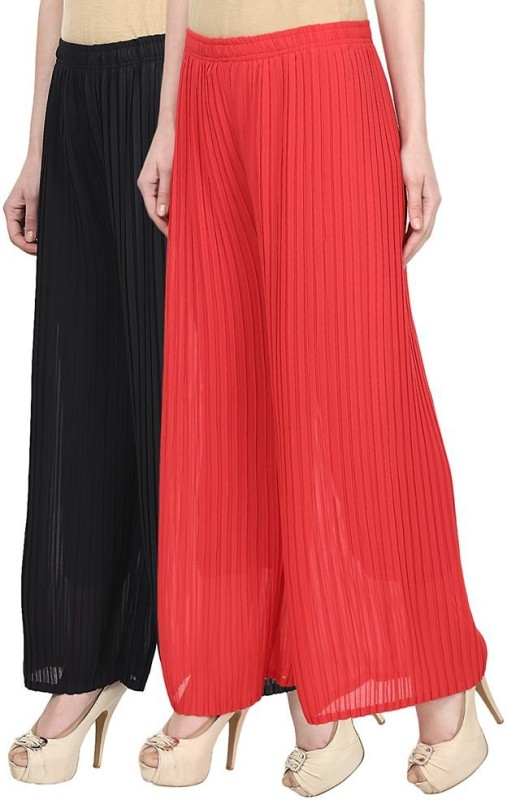 SYS Regular Fit Women's Black, Red Trousers