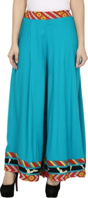 Kaaviyaz Regular Fit Women's Blue, Red Trousers